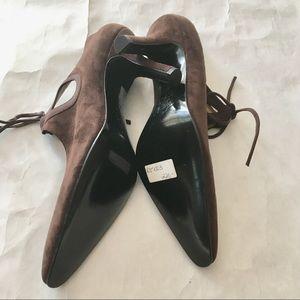 3b69d6f45ac0 Rossimoda Shoes - NWT Rossimoda Sz 7N Brown Suede Tie Heels
